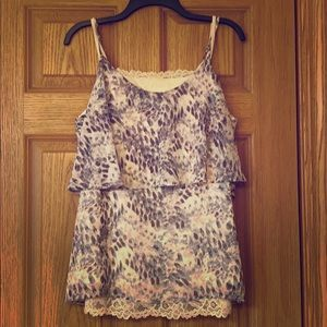 Double printed cami set